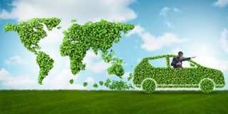 The concept of clean fuel and eco friendly cars Stock Image