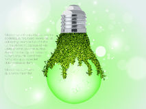 The concept of clean, green energy Stock Photography