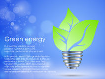 The concept of clean, green energy Stock Photos