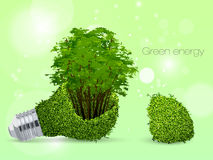 The concept of clean, green energy Stock Image
