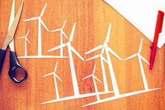 Concept of clean renewable energy Stock Photo