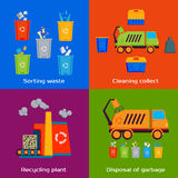 Concept of cleaning, sorting, processing and Royalty Free Stock Photography