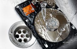 Concept of Cleaning Your Hard Drive Stock Image