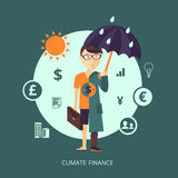 Concept of Climate finance. Vector illustration. The character representing the concept of Climate finance Royalty Free Stock Image