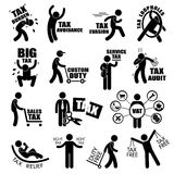 Concept Cliparts d'impôt sur le revenu de contribuable Photographie stock libre de droits