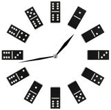 Concept clock with black and white domino Stock Image