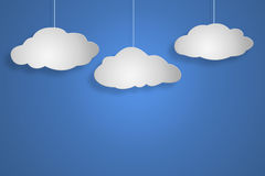 Concept cloud on blu background Stock Photography