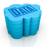Concept of cloud computing Stock Images