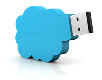 Concept of cloud computing Stock Photo