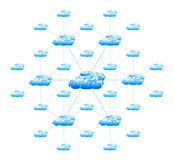 Concept of cloud computing Royalty Free Stock Photography