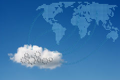 Concept of cloud computing. Concept of cloud computing with binary code Stock Photography