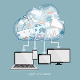 Concept of cloud computing Stock Photography
