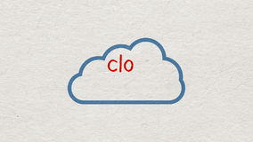Concept of Cloud computing stock video