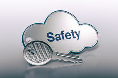 Concept of cloud computing Stock Image