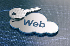 Concept of cloud computing Royalty Free Stock Images