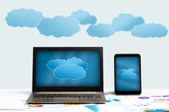 Concept of cloud technologies Stock Photos