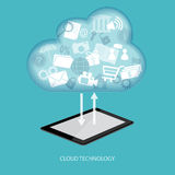 Concept of cloud technology Stock Image