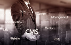 The concept of cms content management system website administration Royalty Free Stock Photos