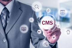 The concept of cms content management system website administration Royalty Free Stock Image