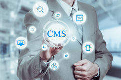 The concept of cms content management system website administration Royalty Free Stock Photography