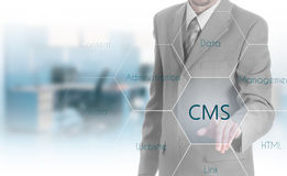 The concept of cms content management system website administration Stock Photos