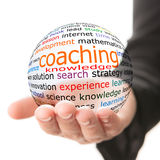 Concept of coaching in learning Royalty Free Stock Image
