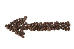 Concept coffee arrow Royalty Free Stock Images