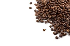Concept of coffee beans with copy space for text or logo.  stock photos