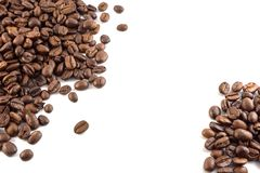 Concept of coffee beans with copy space for text or logo.  royalty free stock photo