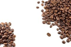 Concept of coffee beans with copy space for text or logo.  royalty free stock images