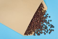 The concept of coffee imports, exporting coffee. Stock Images