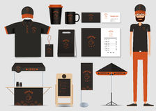 Concept for coffee shop and restaurant identity mock up template. coffee brand Stock Images