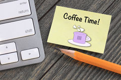 Concept of coffee time Royalty Free Stock Photo