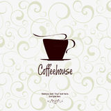 The concept of coffeehouse menu. With the silhouette of the girl's waiter Royalty Free Stock Photography