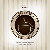 The concept of coffeehouse menu and label. Vector available Royalty Free Stock Images