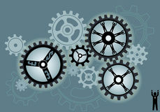 Concept Cogs Background Royalty Free Stock Image