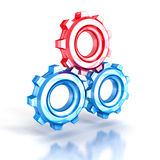Concept cogwheel gears glass icon Stock Images