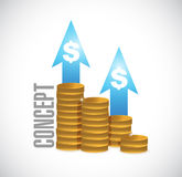concept coin graph sign concept illustration Royalty Free Stock Photography