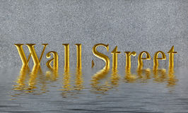 Concept of collapse wall street  in downtown manhattan Royalty Free Stock Photo
