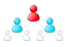 Concept collectieve hiërarchie royalty-vrije illustratie