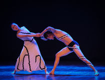 The concept of the collision-Errand into the maze-Modern dance-choreographer Martha Graham. In December 19, 2014, Shi Feifei the dancer dance work session held Royalty Free Stock Images