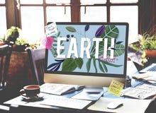 Concept écologique d'environnement de vert de jour de terre Photographie stock libre de droits
