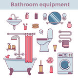 Concept coloré d'équipement de Bath Photos libres de droits