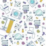 Concept coloré d'équipement de Bath Photographie stock libre de droits