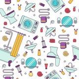 Concept coloré d'équipement de Bath Image stock