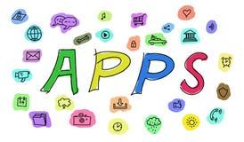 Concept coloré d'apps Image libre de droits