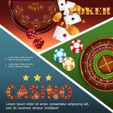 Concept coloré de casino réaliste illustration de vecteur