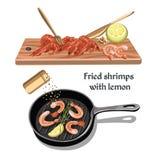 Concept coloré de fruits de mer de croquis illustration libre de droits