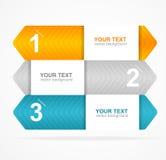 Concept coloré de la zone de texte 1,2,3 de vecteur Photographie stock libre de droits