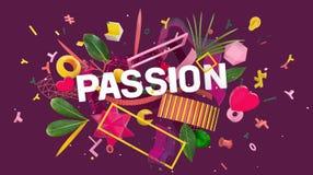 Concept coloré de passion Photographie stock